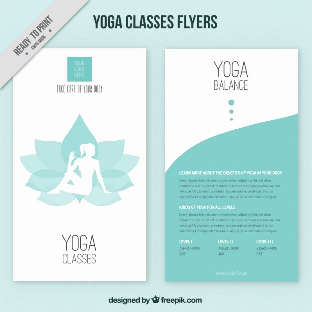 Yoga Flyers Free Template Lovely Flower with Woman Silhouette and Abstract Yoga Flyers