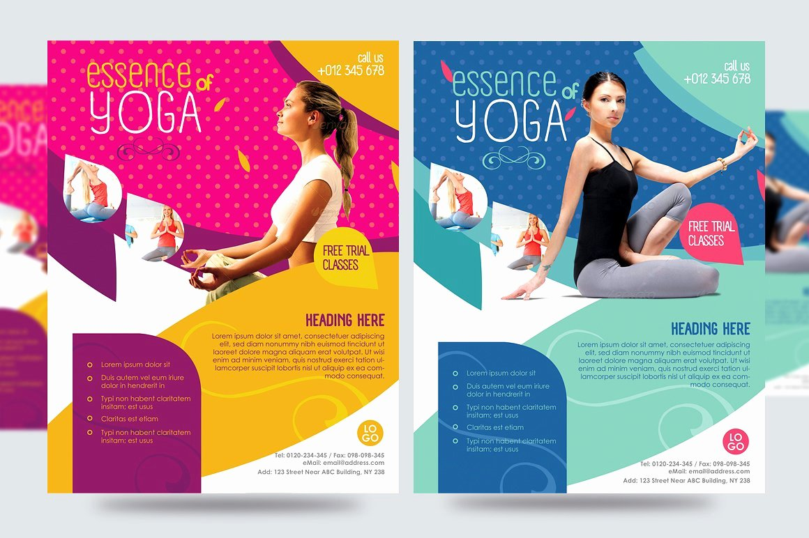 Yoga Flyers Free Template Lovely Yoga Flyer Fitness Flyer V1 Flyer Templates Creative