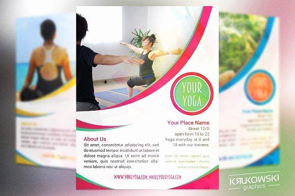 Yoga Flyers Free Template Luxury Your Yoga Flyer Template Flyer Templates Creative Market