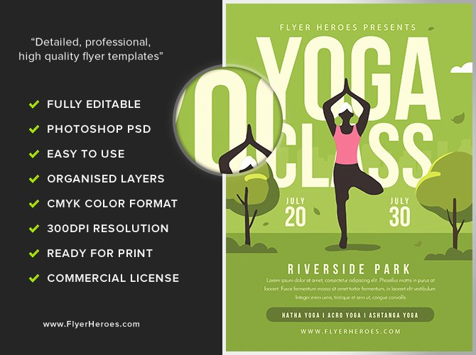 Yoga Flyers Free Template New Yoga In the Park Flyer Template 2 Flyerheroes