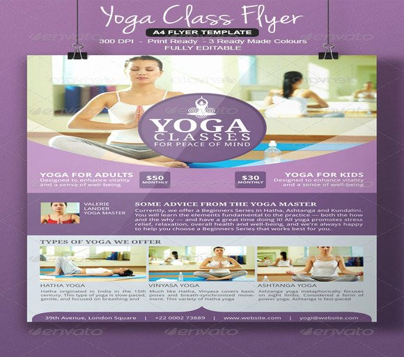 Yoga Flyers Free Template Unique 20 Beautiful Yoga Flyer Templates
