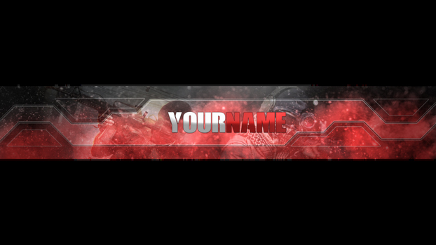 Youtube Banner Template No Text Awesome Bannertemplate