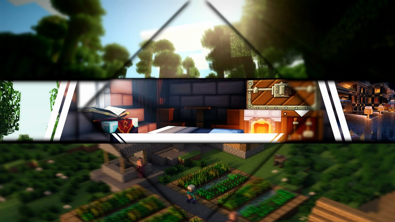 Youtube Banner Template No Text Awesome [free] Epic Minecraft Youtube Banner Template No Text
