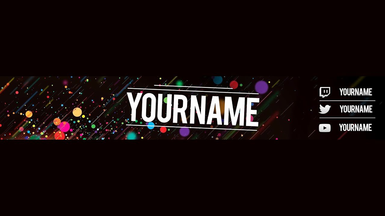 Youtube Banner Template No Text Awesome Free Youtube Banner Template