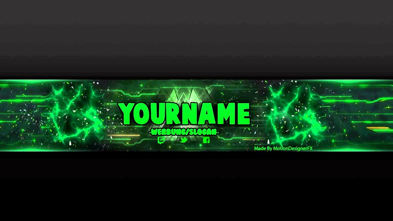 Youtube Banner Template No Text Lovely Youtube Banner Template Green Psd Shop